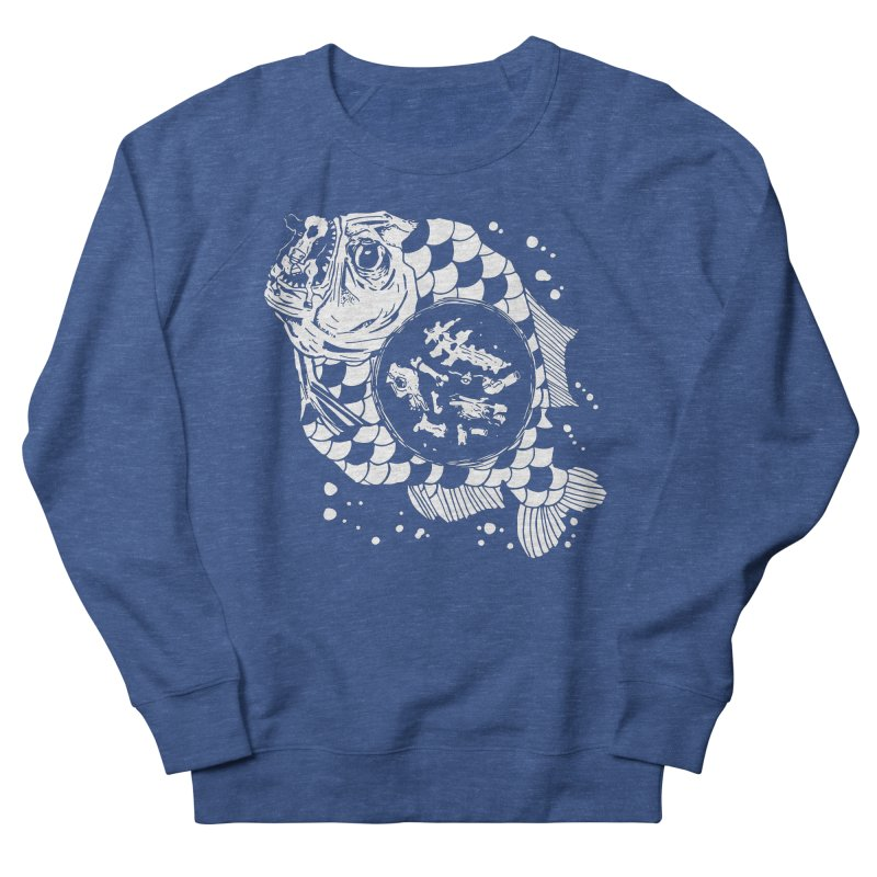 Hunger the Sea Women's French Terry Sweatshirt by Timo Ambo