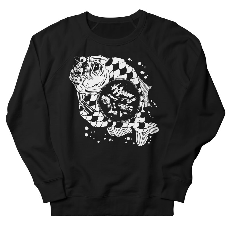 Hunger the Sea Men's French Terry Sweatshirt by Timo Ambo