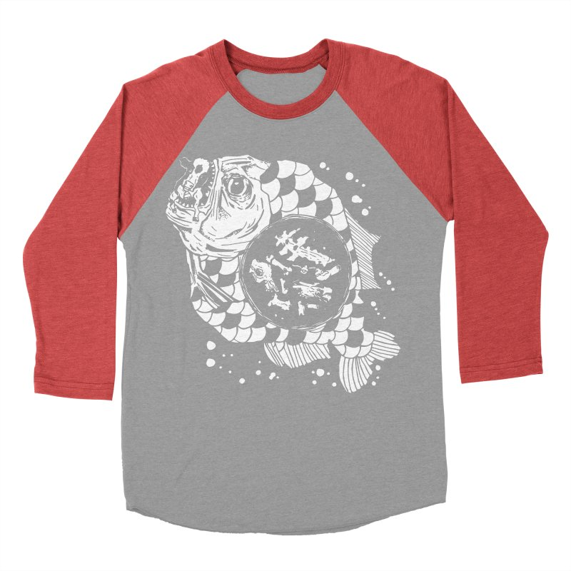 Hunger the Sea Men's Baseball Triblend T-Shirt by Timo Ambo