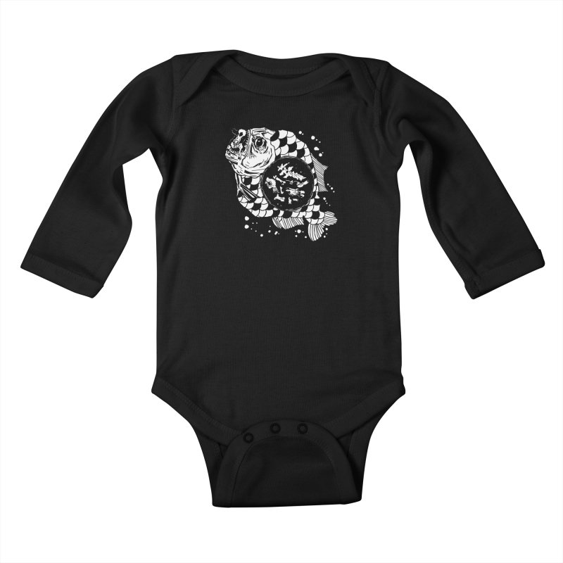 Hunger the Sea Kids Baby Longsleeve Bodysuit by Timo Ambo