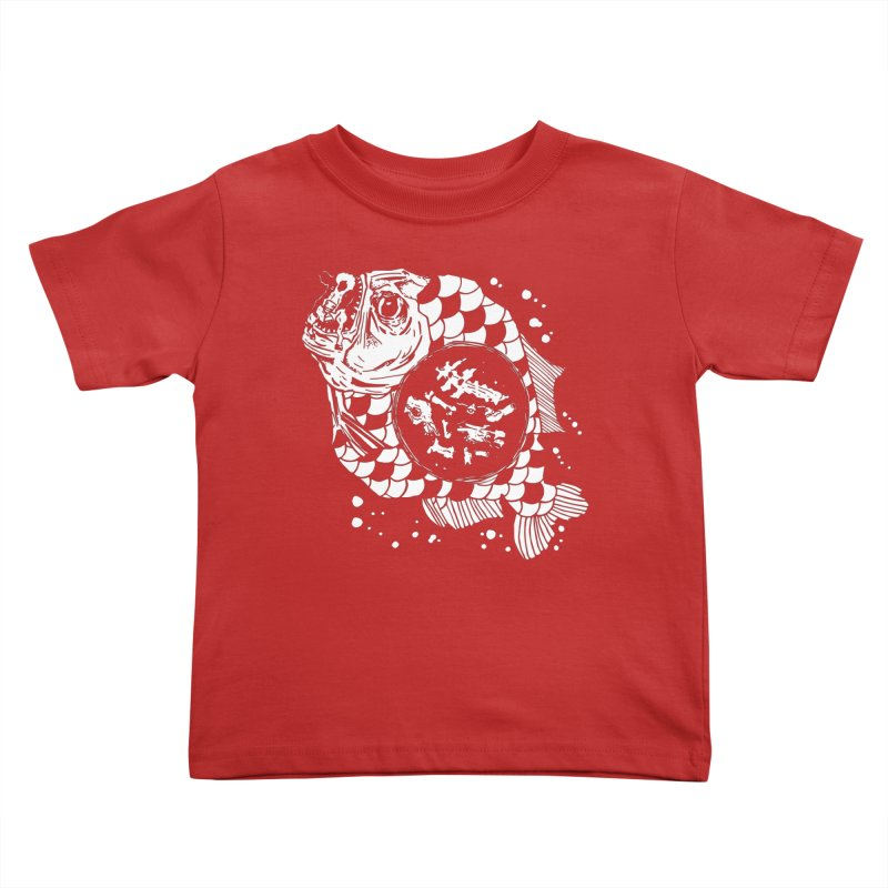 Hunger the Sea Kids Toddler T-Shirt by Timo Ambo