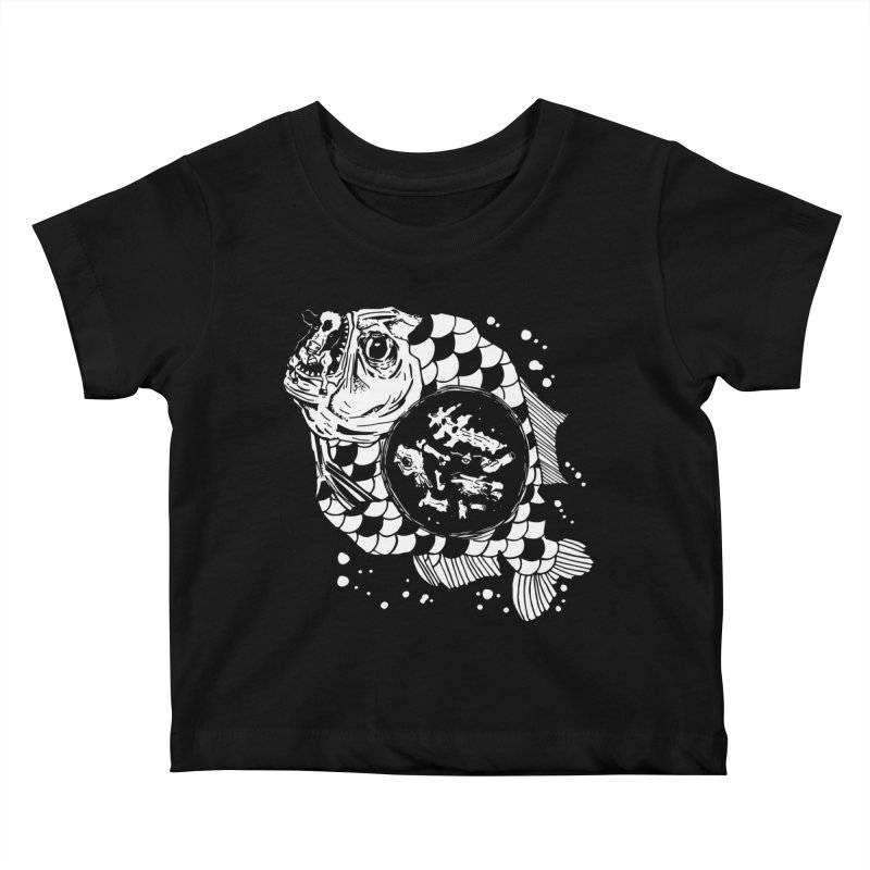 Hunger the Sea Kids Baby T-Shirt by Timo Ambo