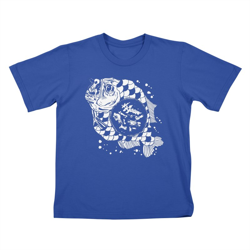 Hunger the Sea Kids T-Shirt by Timo Ambo
