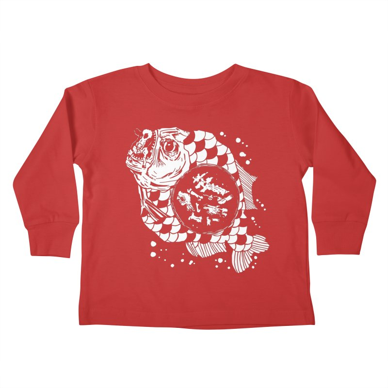 Hunger the Sea Kids Toddler Longsleeve T-Shirt by Timo Ambo