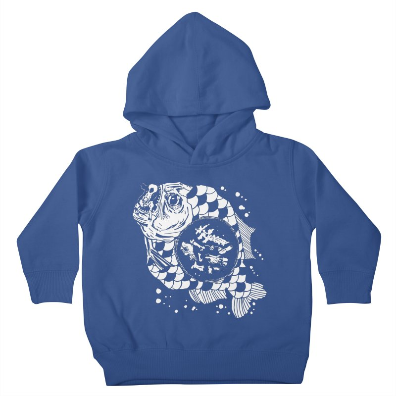 Hunger the Sea Kids Toddler Pullover Hoody by Timo Ambo