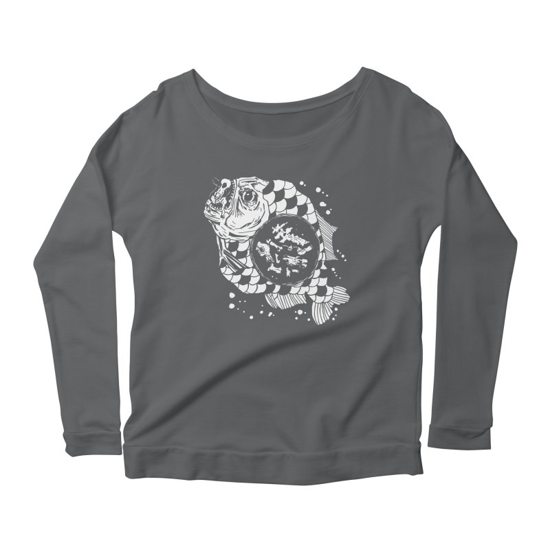 Hunger the Sea Women's Longsleeve Scoopneck  by Timo Ambo