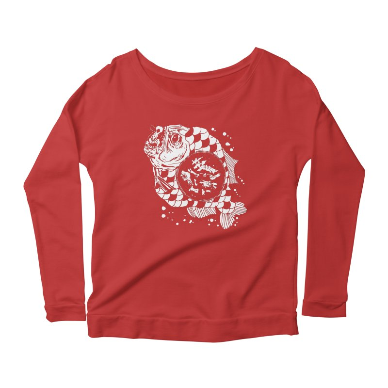 Hunger the Sea Women's Scoop Neck Longsleeve T-Shirt by Timo Ambo