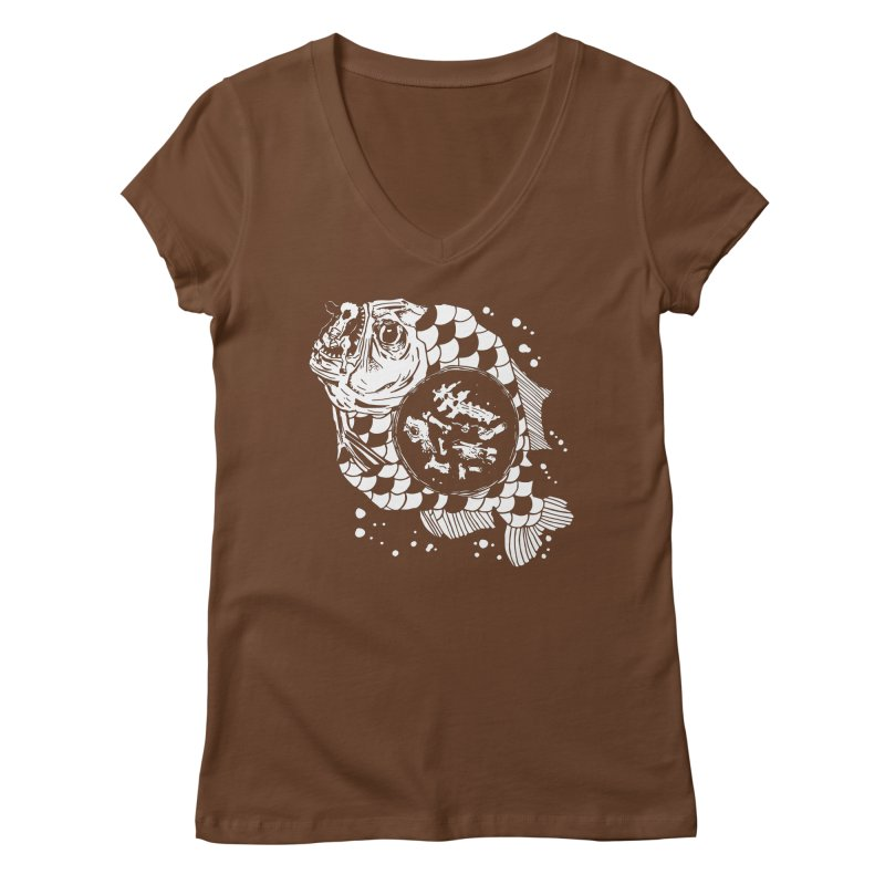 Hunger the Sea Women's V-Neck by Timo Ambo