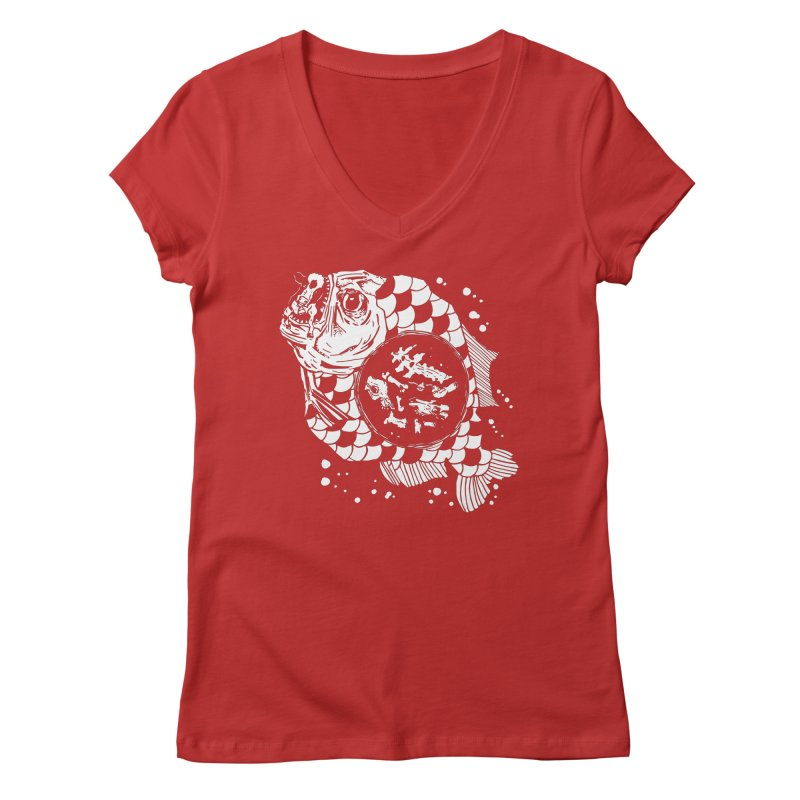 Hunger the Sea Women's Regular V-Neck by Timo Ambo
