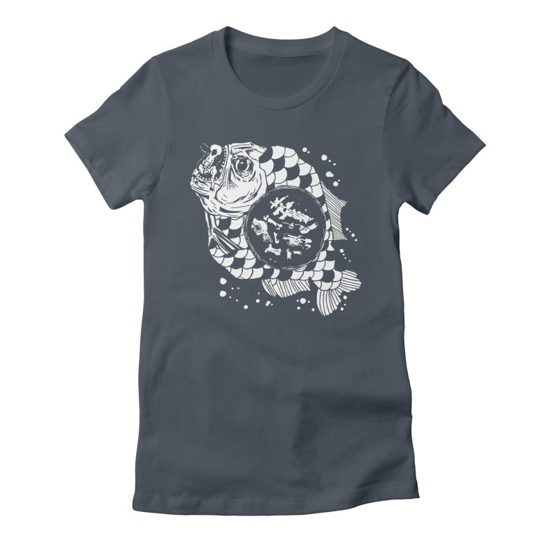 Hunger the Sea Women's Fitted T-Shirt by Timo Ambo