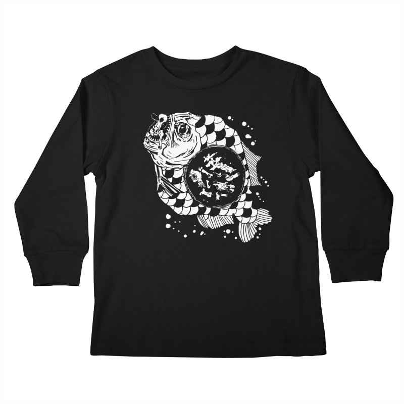 Hunger the Sea Kids Longsleeve T-Shirt by Timo Ambo
