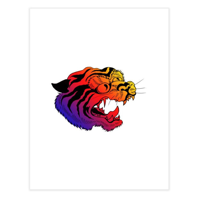 """Tiger"" Home Fine Art Print by Tina Lugo's Artist Shop"