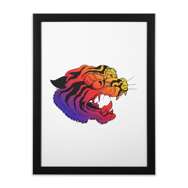 """Tiger"" Home Framed Fine Art Print by Tina Lugo's Artist Shop"