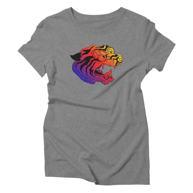 """Tiger"" Women's Triblend T-Shirt by Tina Lugo's Artist Shop"