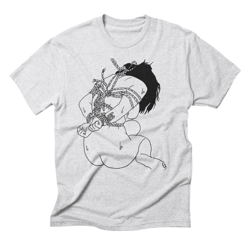 """Shibari Girl""  Men's Triblend T-Shirt by Tina Lugo's Artist Shop"