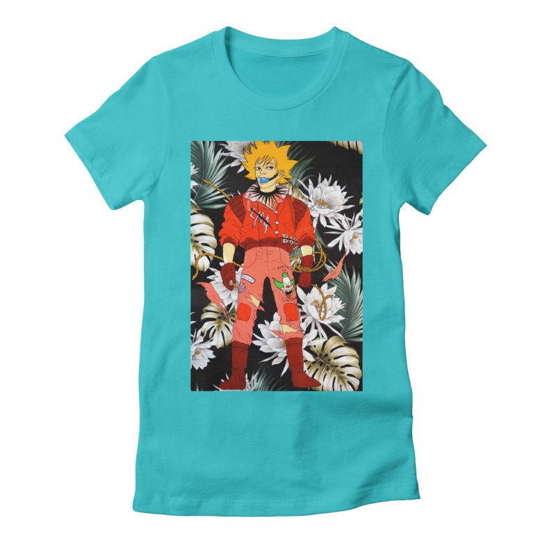 """Bartkira"" Women's Fitted T-Shirt by Tina Lugo's Artist Shop"