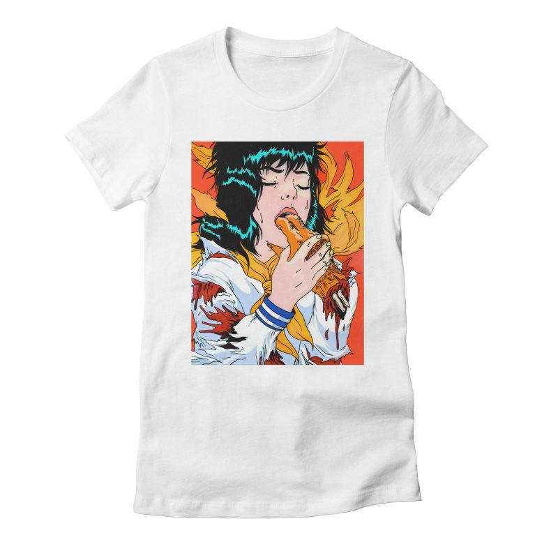 Bite Harder Women's Fitted T-Shirt by Tina Lugo's Artist Shop