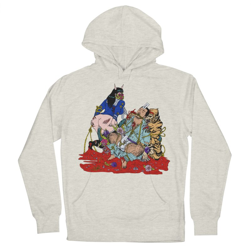 Carnation Men's French Terry Pullover Hoody by Tina Lugo's Artist Shop