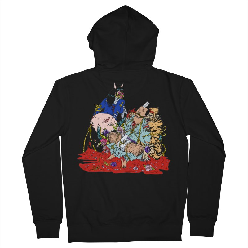 Carnation Women's French Terry Zip-Up Hoody by Tina Lugo's Artist Shop