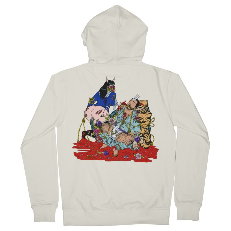 Carnation Men's French Terry Zip-Up Hoody by Tina Lugo's Artist Shop