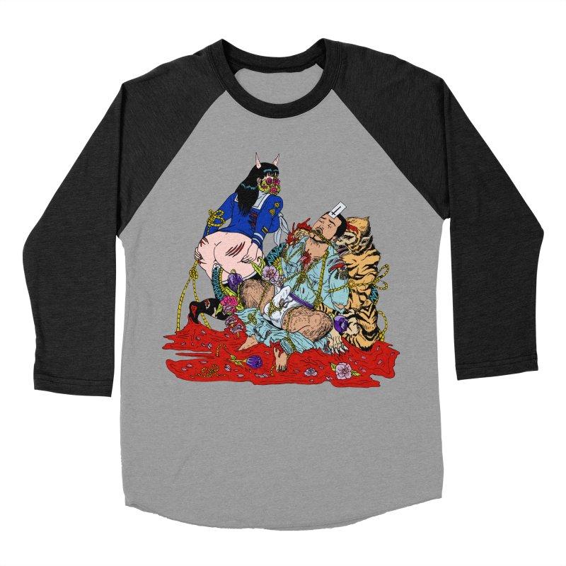 Carnation Men's Baseball Triblend Longsleeve T-Shirt by Tina Lugo's Artist Shop