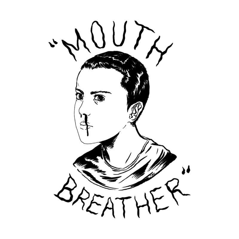Mouth Breather (white) Men's T-Shirt by Tina Lugo's Artist Shop