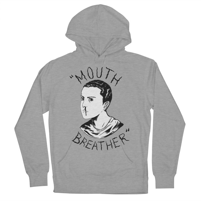 Mouth Breather (white) Women's French Terry Pullover Hoody by Tina Lugo's Artist Shop