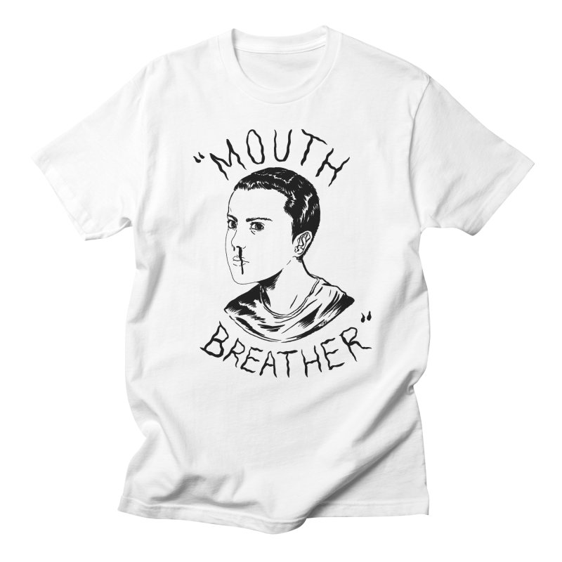 Mouth Breather (white) Men's Regular T-Shirt by Tina Lugo's Artist Shop