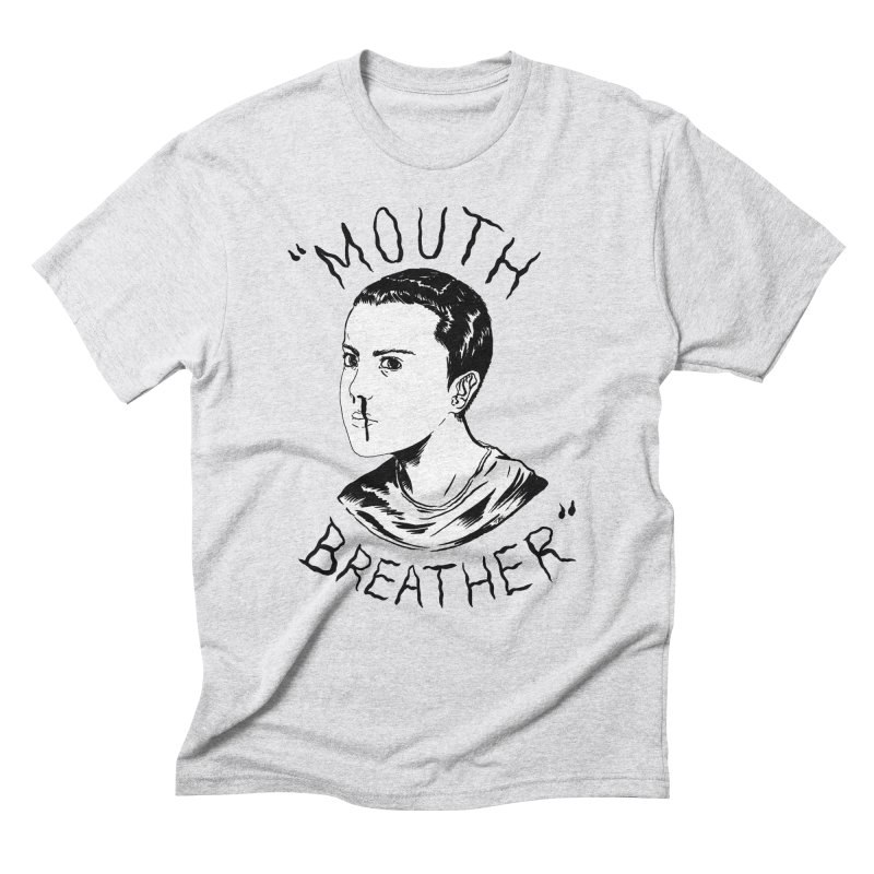 Mouth Breather (white) Men's Triblend T-Shirt by Tina Lugo's Artist Shop