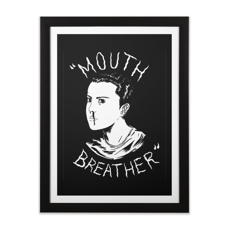 Mouth Breather (Black) Home Framed Fine Art Print by Tina Lugo's Artist Shop