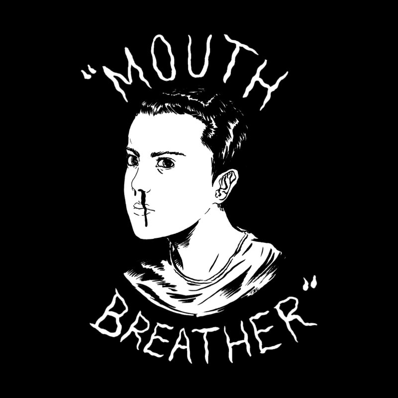 Mouth Breather (Black) Men's Sweatshirt by Tina Lugo's Artist Shop