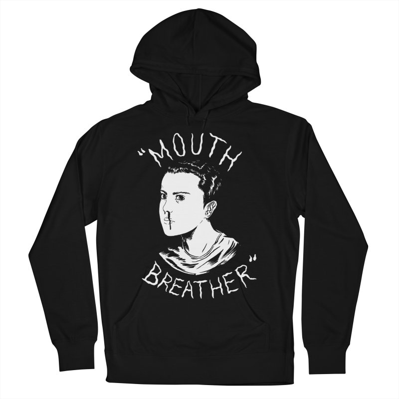 Mouth Breather (Black) Men's French Terry Pullover Hoody by Tina Lugo's Artist Shop