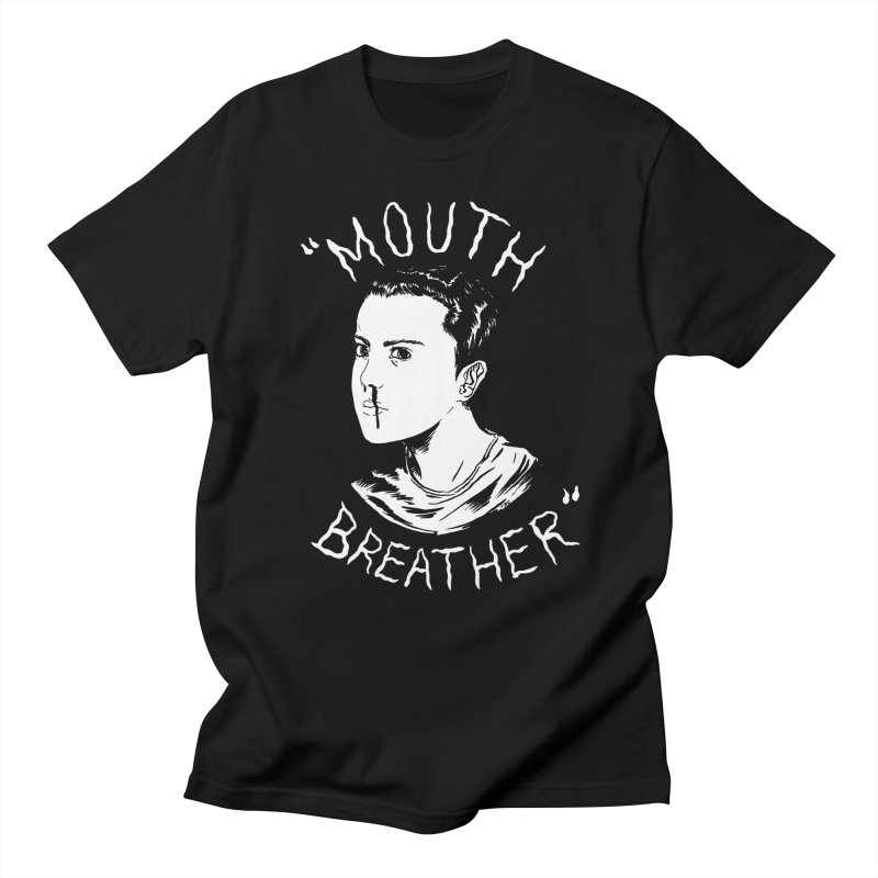 Mouth Breather (Black) Men's Regular T-Shirt by Tina Lugo's Artist Shop
