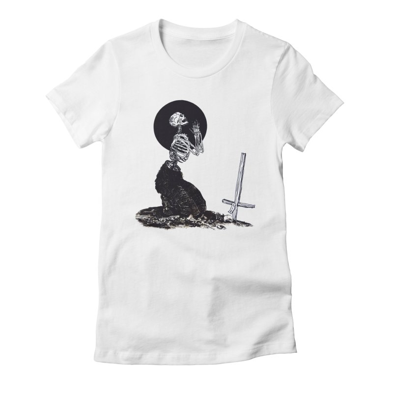 Pray For Death Women's Fitted T-Shirt by Tina Lugo's Artist Shop