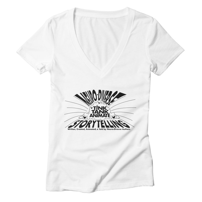 Tink Tank Neuro-Diverse Cloud Women's V-Neck by Tink Tank Animate