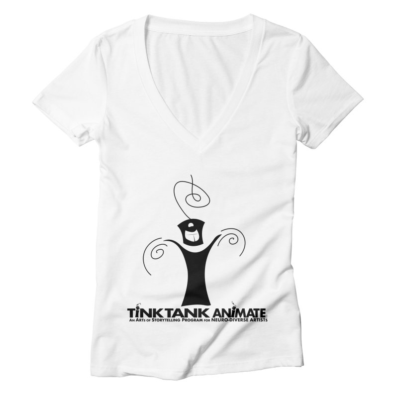 Tink Celebrates from Tink Tank Animate Women's V-Neck by Tink Tank Animate