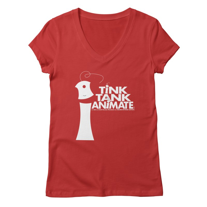 TInk Tank White Tink 01 Pyramid Women's V-Neck by Tink Tank Animate