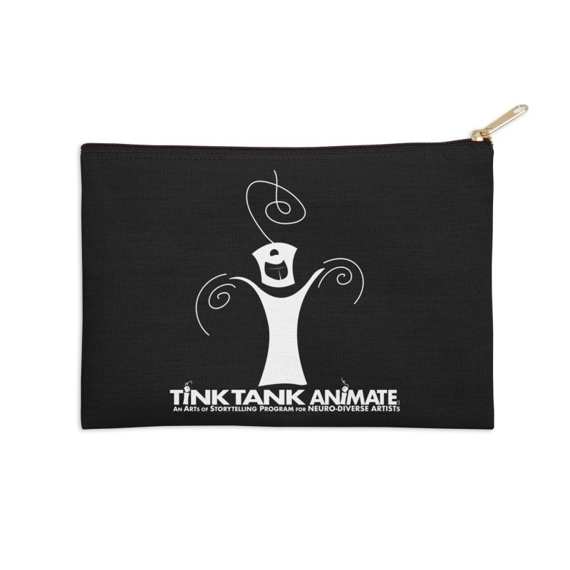 Tink Tank Animate - Tink 03 White Celebrate Accessories Zip Pouch by Tink Tank Animate