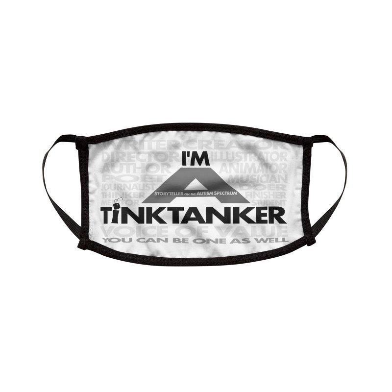 I'm a Storyteller on the Autism Spectrum Tink Tanker Mask Accessories Face Mask by Tink Tank Animate