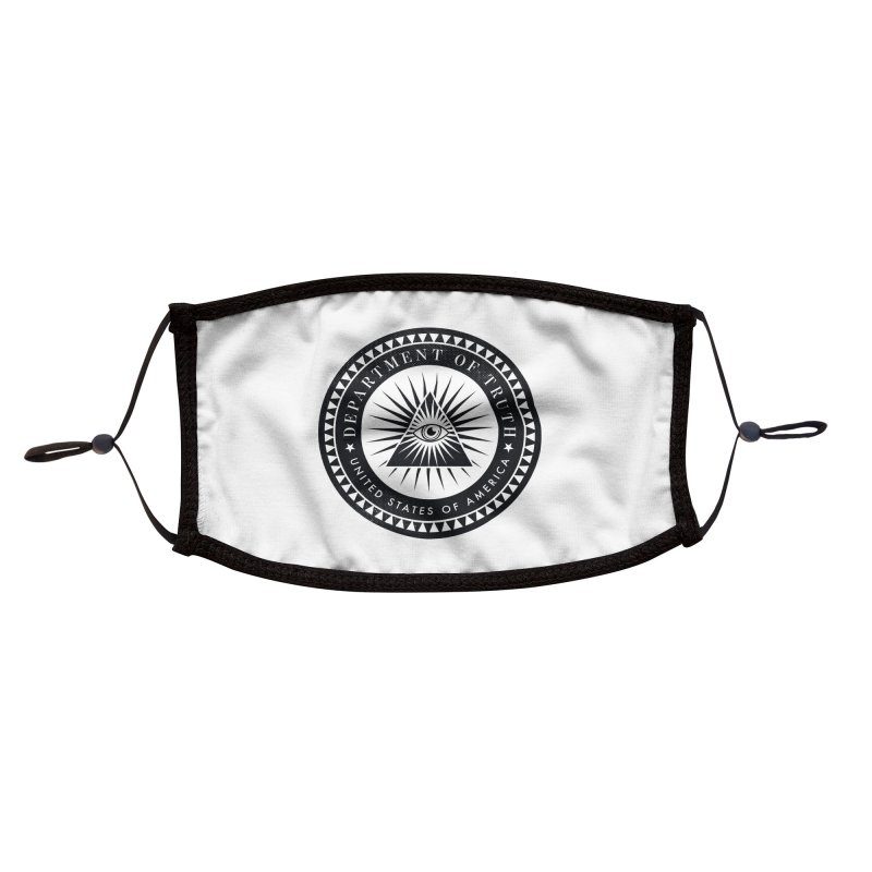 DEPARTMENT OF TRUTH 002 - LOGO BLACK Accessories Face Mask by Tiny Onion Studios Apparel