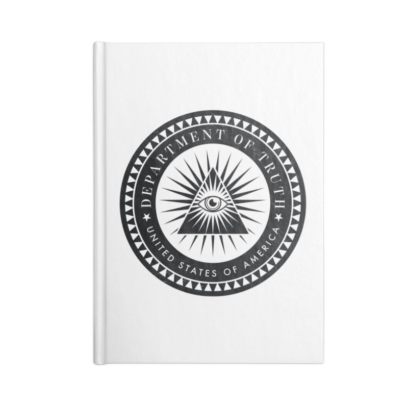 DEPARTMENT OF TRUTH 002 - LOGO BLACK Accessories Notebook by Tiny Onion Studios Apparel