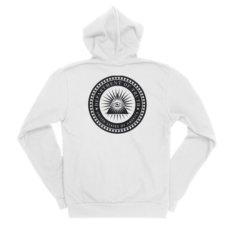 DEPARTMENT OF TRUTH 002 - LOGO BLACK Women's Zip-Up Hoody by Tiny Onion Studios Apparel