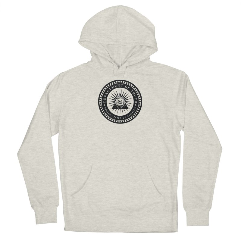 DEPARTMENT OF TRUTH 002 - LOGO BLACK Men's Pullover Hoody by Tiny Onion Studios Apparel