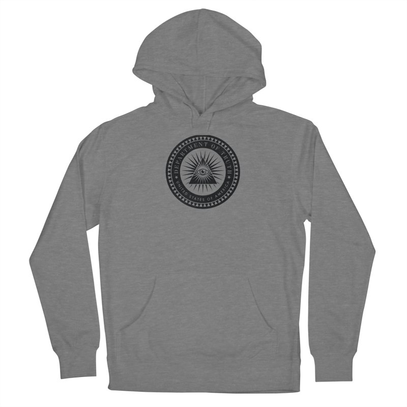 DEPARTMENT OF TRUTH 002 - LOGO BLACK Women's Pullover Hoody by Tiny Onion Studios Apparel