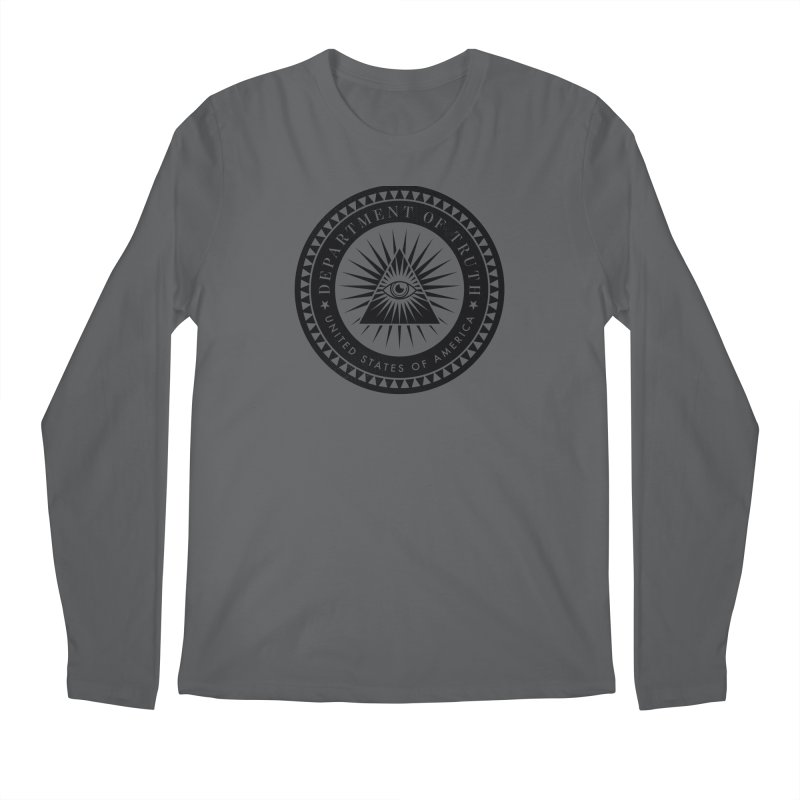 DEPARTMENT OF TRUTH 002 - LOGO BLACK Men's Longsleeve T-Shirt by Tiny Onion Studios Apparel