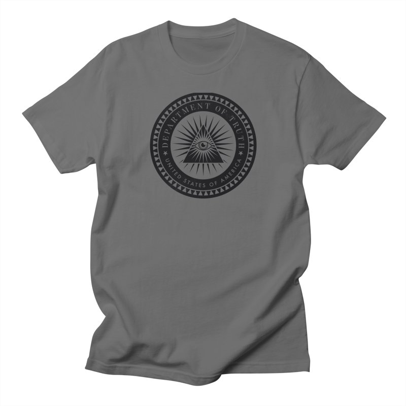 DEPARTMENT OF TRUTH 002 - LOGO BLACK Men's T-Shirt by Tiny Onion Studios Apparel