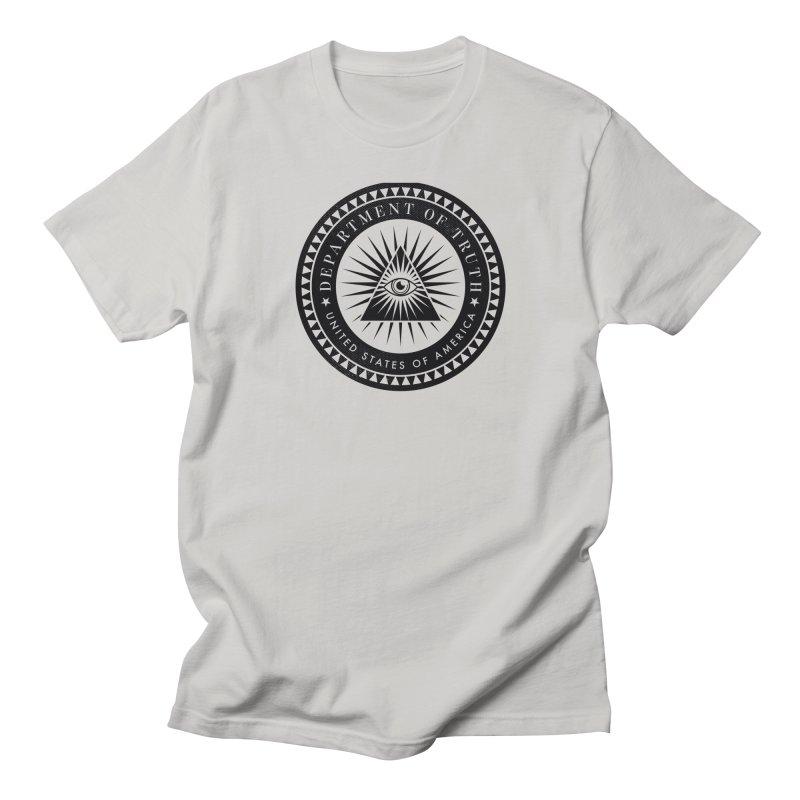 DEPARTMENT OF TRUTH 002 - LOGO BLACK Men's T-Shirt by Tiny Onion Studios Apparel