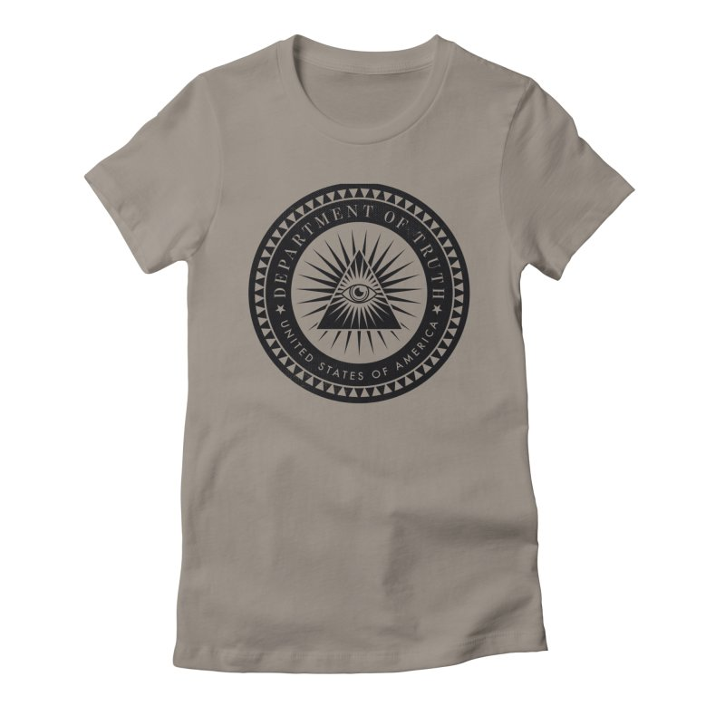 DEPARTMENT OF TRUTH 002 - LOGO BLACK Women's T-Shirt by Tiny Onion Studios Apparel