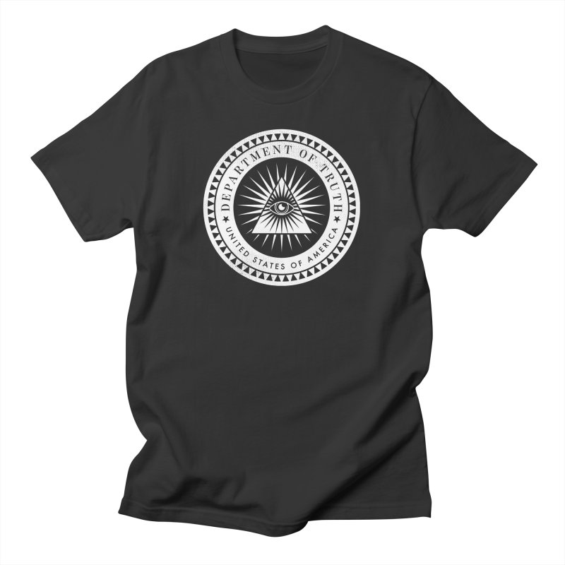 DEPARTMENT OF TRUTH 002 - LOGO WHITE Men's T-Shirt by Tiny Onion Studios Apparel