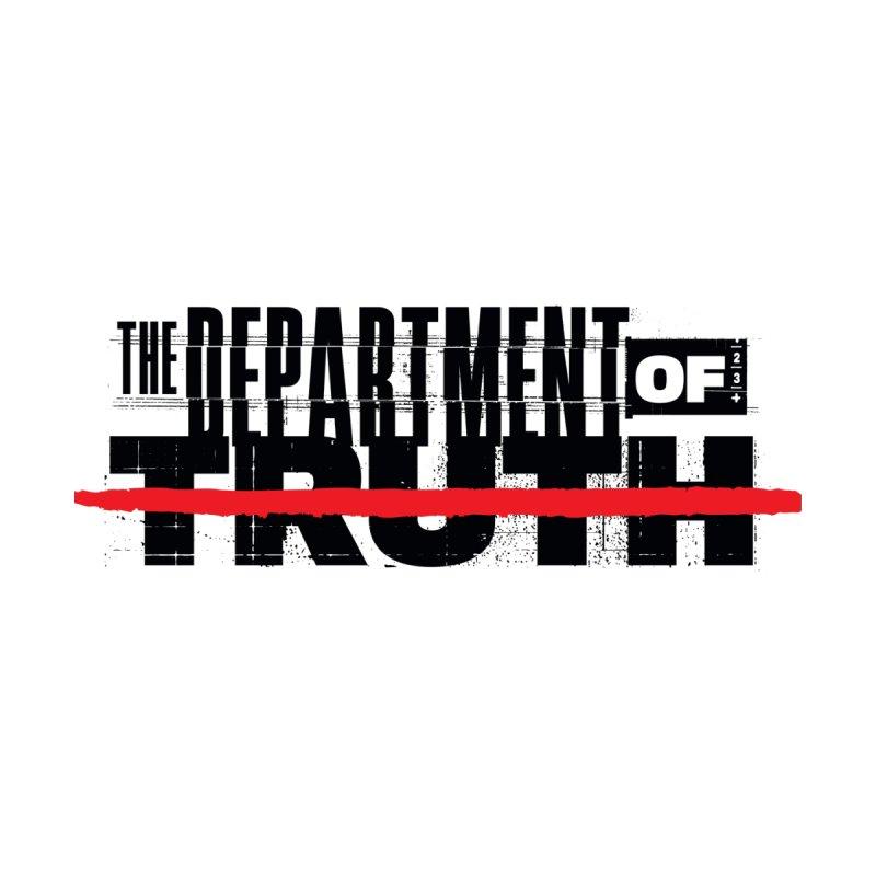 DEPARTMENT OF TRUTH 001 - LOGO BLACK Men's T-Shirt by Tiny Onion Studios Apparel